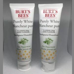 Lot Of 2 Burts Bees Flouride-Free Toothpaste 105mL